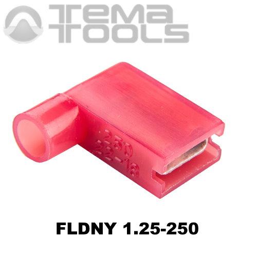 Коннектор плоский угловой FLDNY 1,25-250 «мама» с полной изоляцией – купить плоский угловой разъем с полной нейлоновой изоляцией