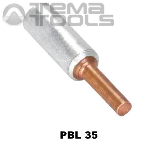 Наконечник силовой PBL 35 штыревой медно-алюминиевый – купить медно-алюминиевый наконечник штыревого типа
